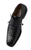 Ferrini F226 Genuine Hornback Alligator Lace-up Dress Shoe in Black Cherry